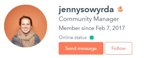 Jenny Sowyrda hubspot community