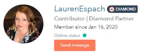 Lauren Espach hubspot community