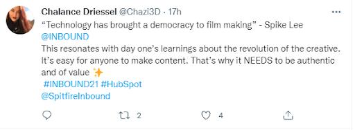 Chaz tweet