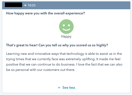 Customer satisfaction survey 1