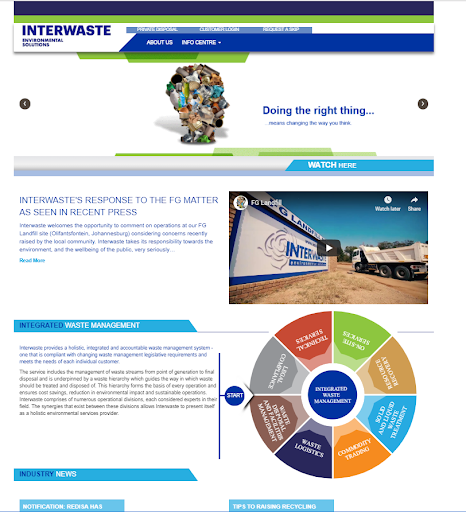 Interwaste Old Website 1