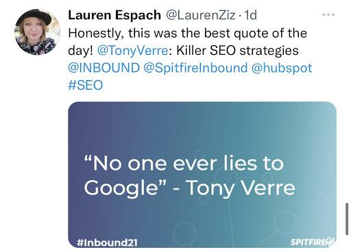 No lies Google Tweet